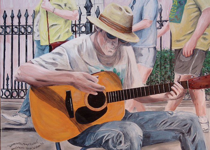 Kevin Callahan Greeting Card featuring the painting Let the Good Times Roll-New Orleans Blues by Kevin Callahan