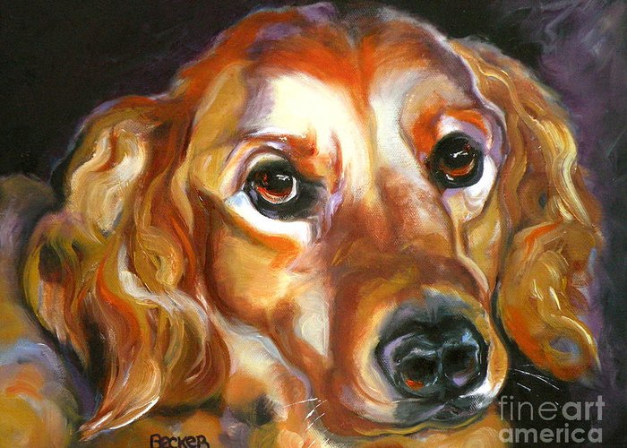Oil Greeting Card featuring the painting Let The Sunshine In by Susan A Becker