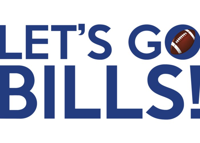 Buffalo Bills Greeting Card featuring the painting Let's Go Bills by Florian Rodarte