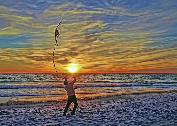 Fly A Kite Greeting Card featuring the photograph Let's Go Fly A Kite by HH Photography of Florida