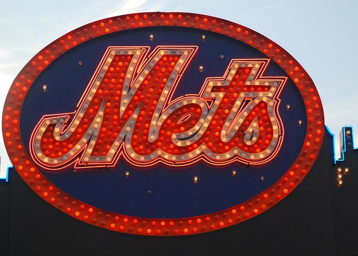 New York Mets Greeting Card featuring the photograph Lets Go Mets by Richard Bryce and Family