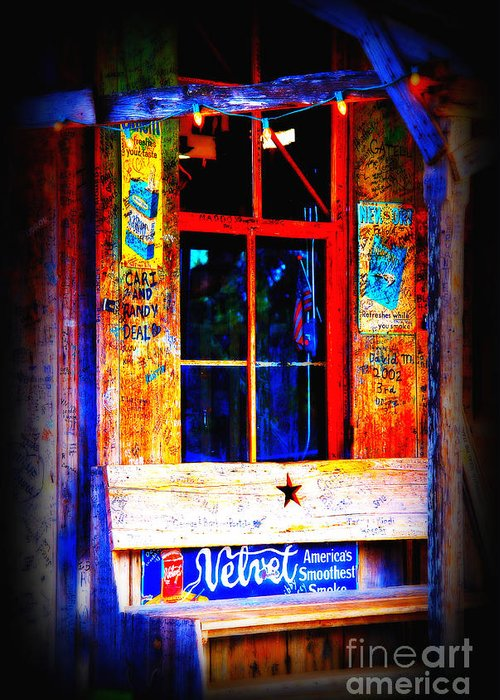 Luckenbach Greeting Card featuring the photograph Let's Go To Luckenbach Texas by Susanne Van Hulst