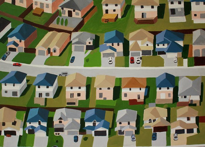 Residential Structure Paintings Greeting Cards