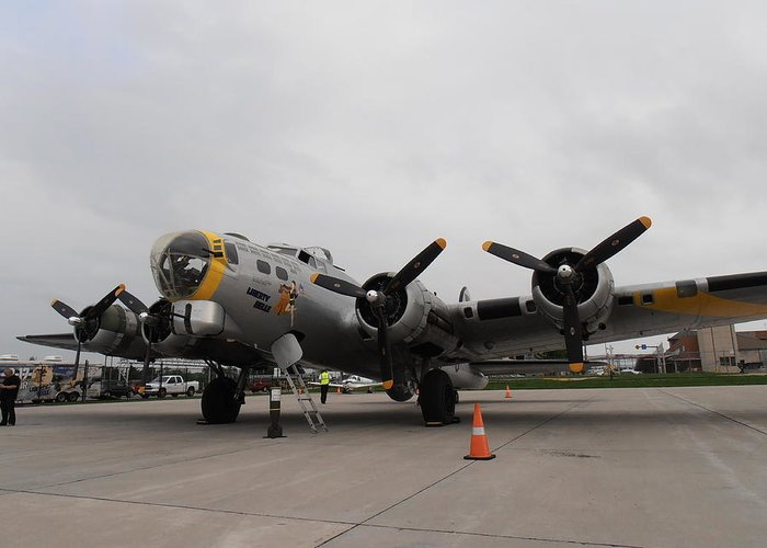 Digital Greeting Card featuring the photograph Liberty Belle B17 by Tim Donovan