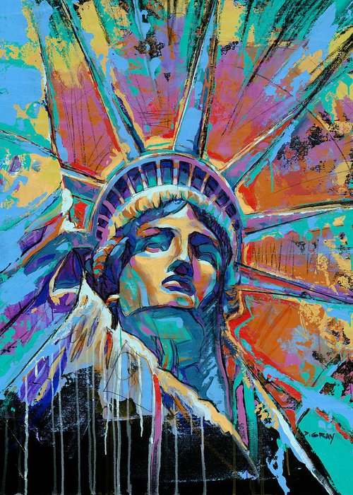 Liberty Paintings Greeting Cards