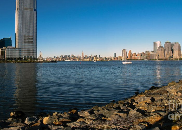 Liberty State Park Greeting Card featuring the photograph Liberty State Park by Valerie Morrison