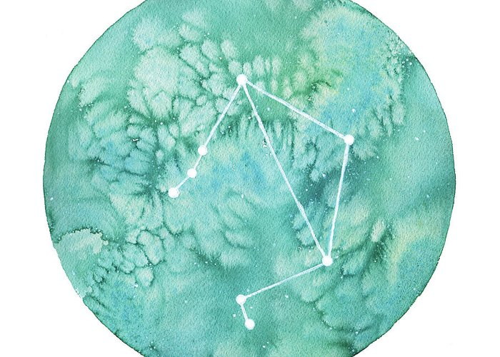 Zodiac Paintings Greeting Cards