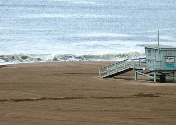 Beach Greeting Card featuring the photograph Life Guard Stand - Color by Shari Chavira