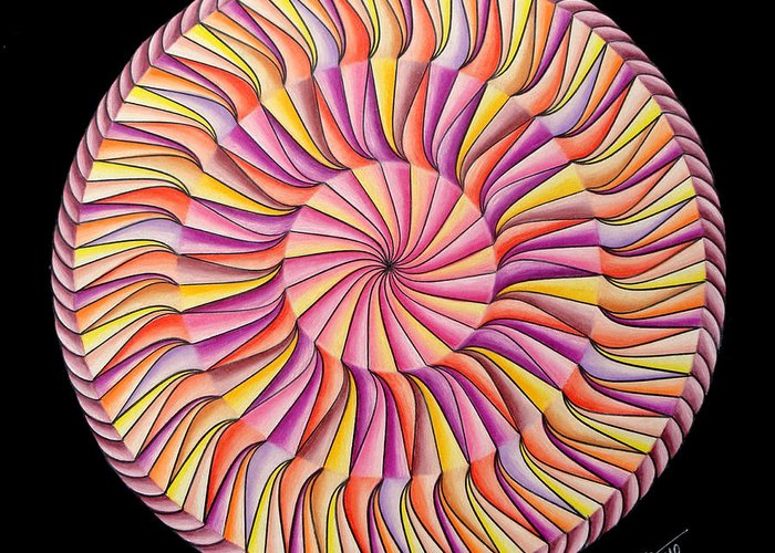 Mandala Greeting Card featuring the painting Life In Movement by Marcia Lupo