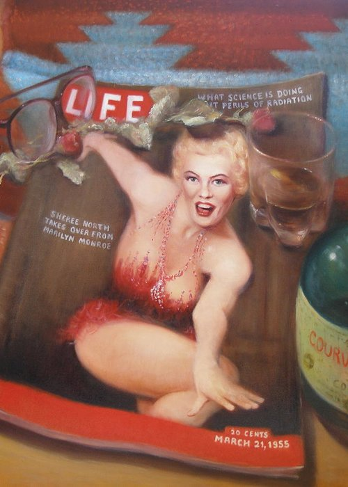 Realism Greeting Card featuring the painting Life In The Fifties by Donelli DiMaria