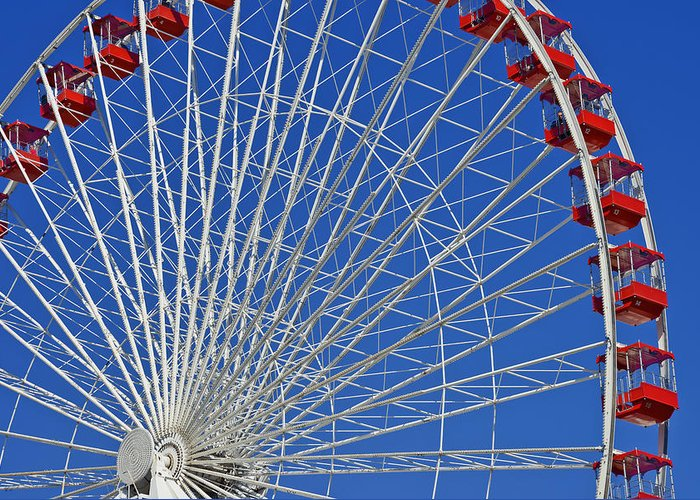 Wheels Greeting Card featuring the photograph Life Is Like A Ferris Wheel by Christine Till