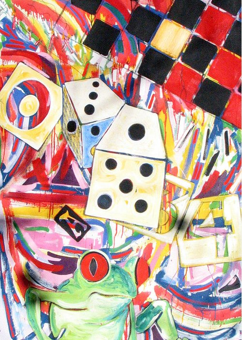 Dice Greeting Card featuring the painting Life by Rollin Kocsis