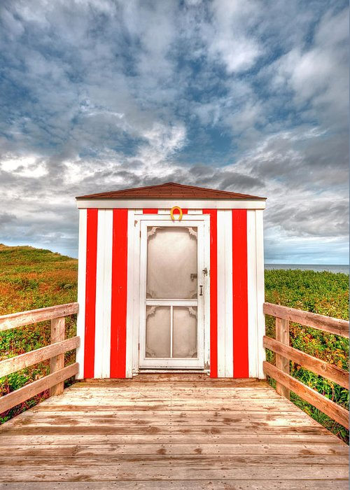 Pei Greeting Card featuring the photograph Lifeguard Hut by Elisabeth Van Eyken