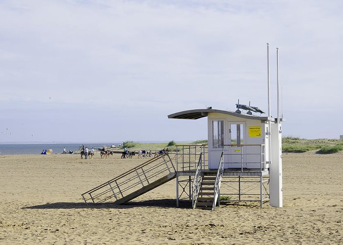 Skegness Greeting Card featuring the photograph Lifeguard Station At Skegness by Rod Johnson