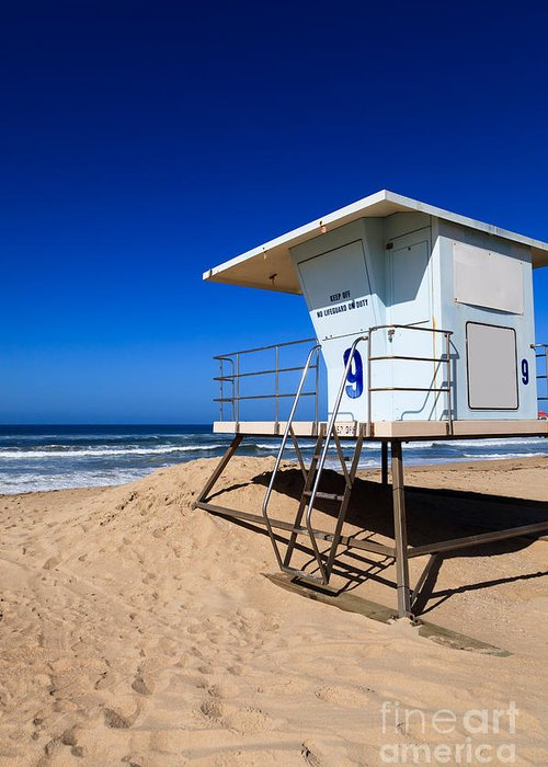 America Greeting Card featuring the photograph Lifeguard Tower Photo by Paul Velgos