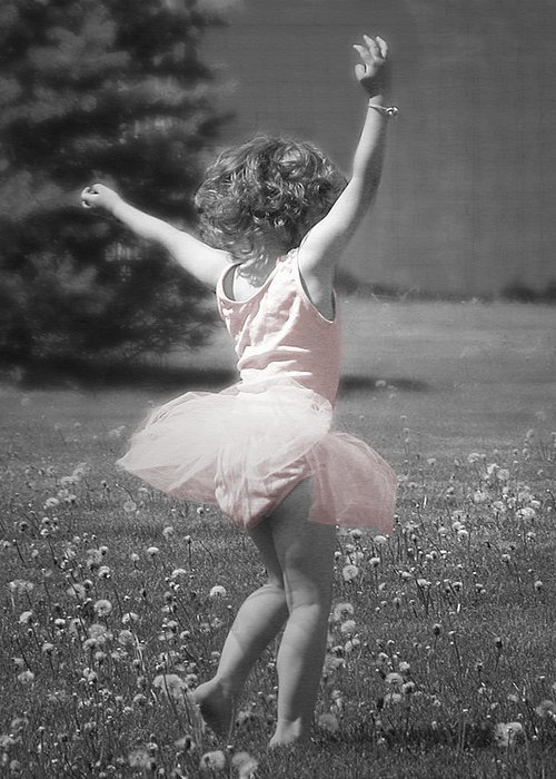 Little Girl Greeting Card featuring the photograph Life's A Dance by Cindy Singleton