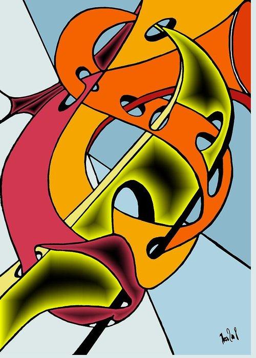 Lifeways Greeting Card featuring the digital art Lifeways by Helmut Rottler