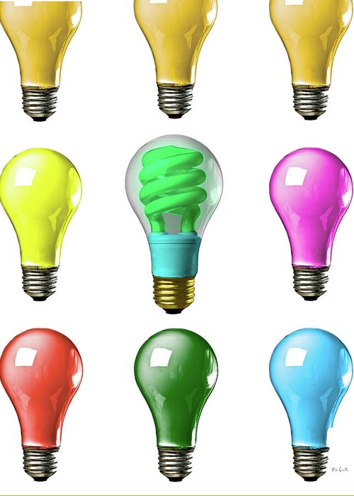 Business Greeting Card featuring the photograph Light Bulbs Of A Different Color by Bob Orsillo