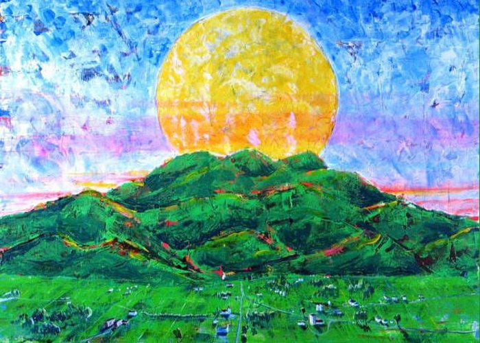 Sun Greeting Card featuring the painting Light Of Day by Rollin Kocsis