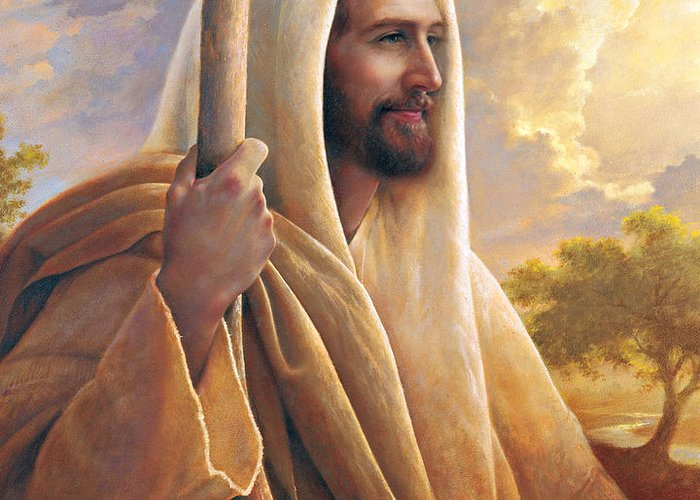 Light Of The World Greeting Card featuring the painting Light Of The World by Greg Olsen
