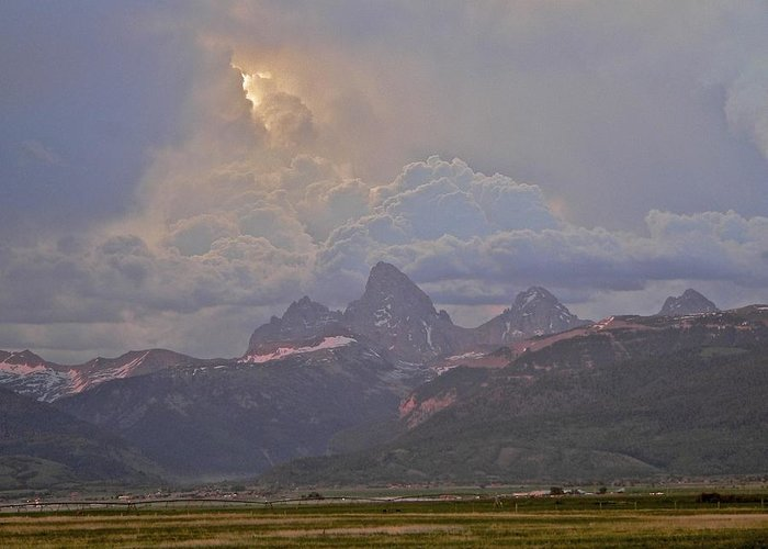 Sunlight Greeting Card featuring the photograph Light Storm by Eric Tressler