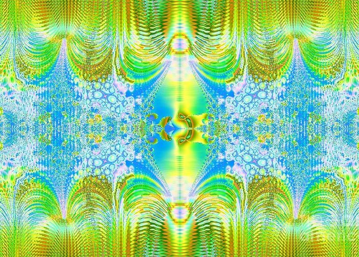 Digital Greeting Card featuring the digital art Light Through The Curtains by Thomas Smith