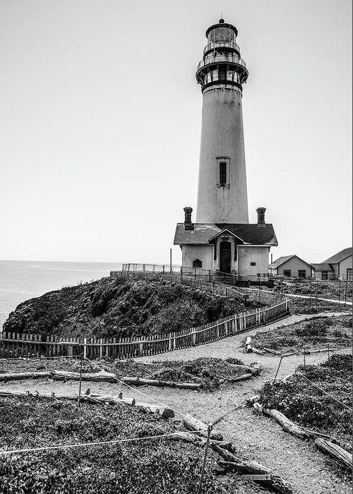 Light House Greeting Card featuring the photograph Light Tower Of The Pacific by Moshe Levis