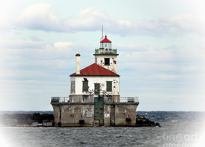 Lake Ontario Greeting Card featuring the photograph Lighthouse At Oswego NY by Rennae Christman