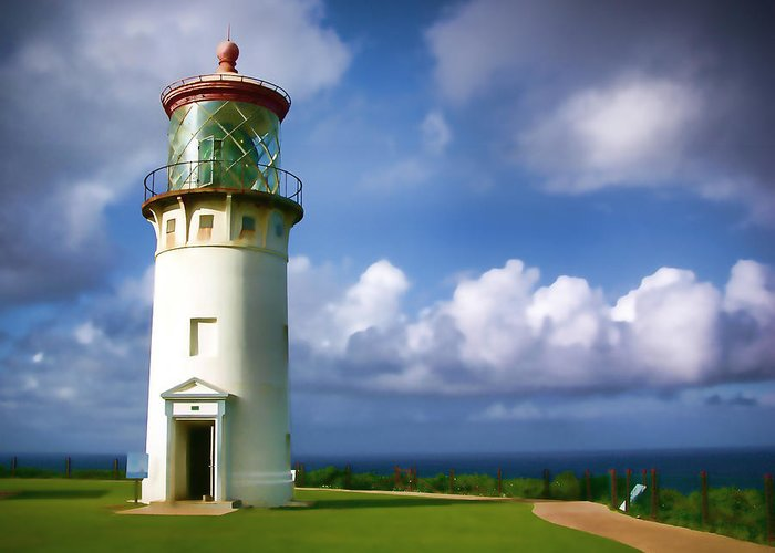 Hawaii Greeting Card featuring the photograph Lighthouse Impression by Timothy Manning