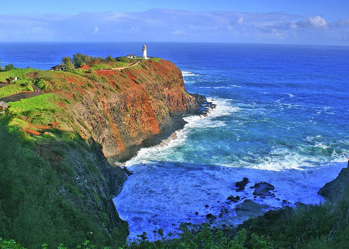 Lighthouse Greeting Card featuring the photograph Lighthouse On The Hill by Scott Mahon