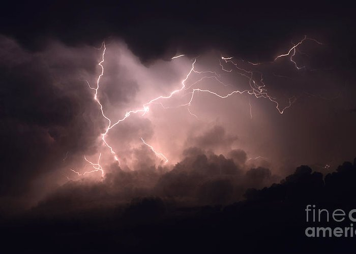 Lightning Greeting Card featuring the photograph Lightning 2 by Bob Christopher