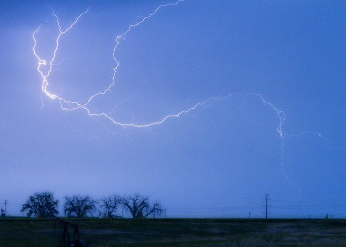 Colorado Greeting Card featuring the photograph Lightning Crawler by James BO Insogna