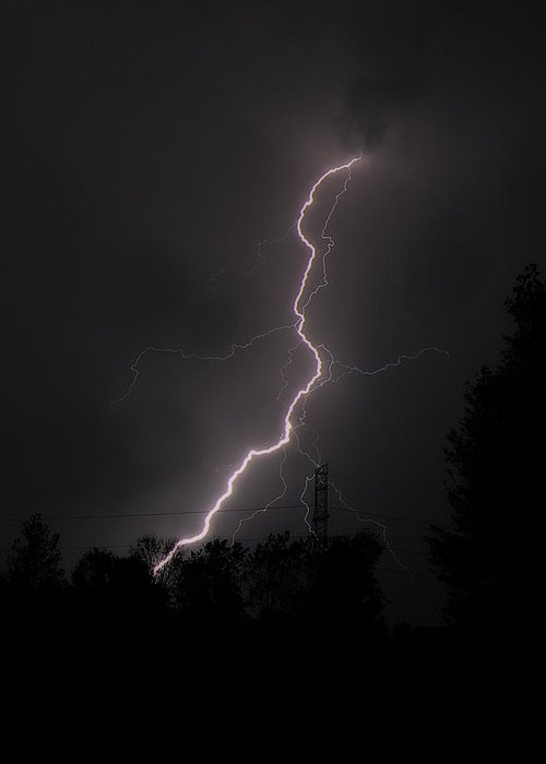 Hovind Greeting Card featuring the photograph Lightning Strikes by Scott Hovind