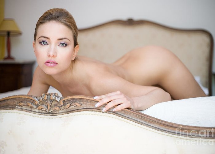 Sensual Greeting Card featuring the photograph Like A Princess by Olivier De Rycke