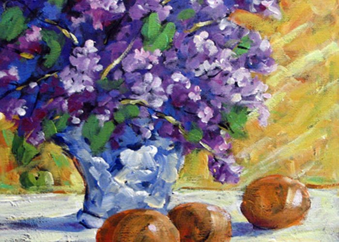 Art Greeting Card featuring the painting Lilac by Richard T Pranke