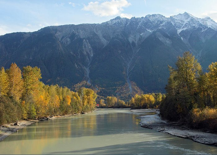 Mount Currie Greeting Card featuring the photograph Lillooet River by Pierre Leclerc Photography