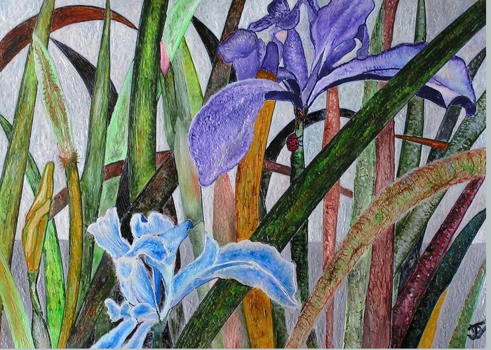 Floral Greeting Card featuring the painting Lilly by John Vandebrooke