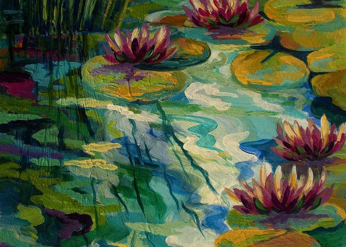 Pond Paintings Greeting Cards