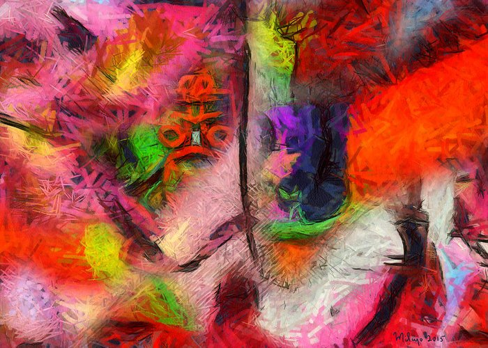 Colorful Greeting Card featuring the digital art Limitless Freedom by Mike Butler