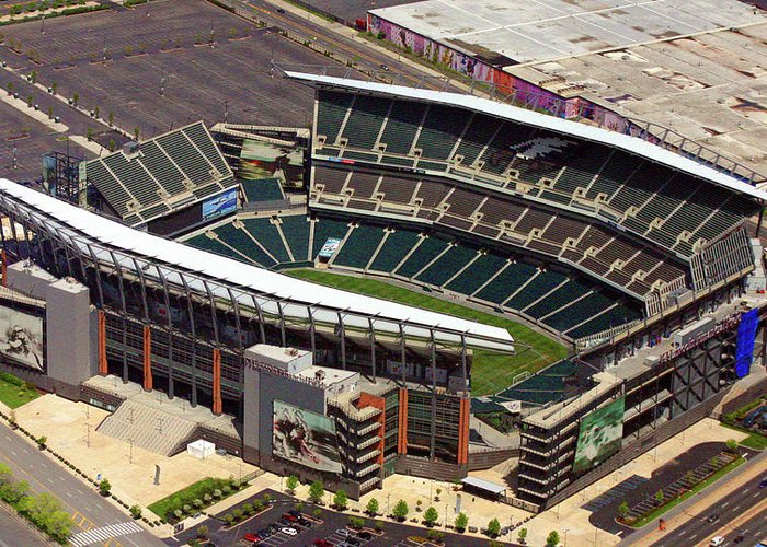 Lincoln Financial Field Greeting Card featuring the photograph Lincoln Financial Field Philadelphia Eagles by Duncan Pearson