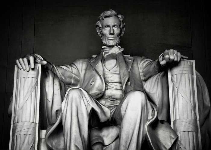 Lincoln Greeting Card featuring the photograph Lincoln Memorial by Daniel Hagerman