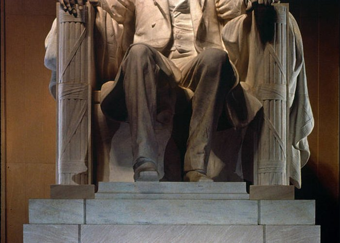 19th Century Greeting Card featuring the photograph Lincoln Memorial: Statue by Granger