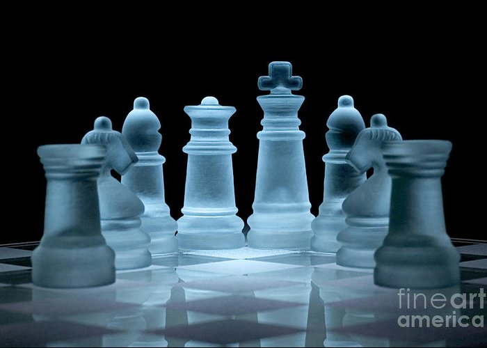 Chess Greeting Card featuring the photograph Lines Of Defence by Ann Garrett