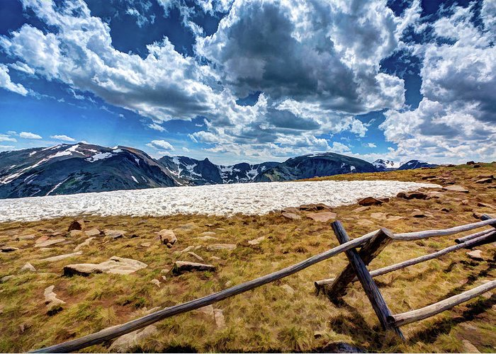 Colorado Greeting Card featuring the photograph Lingering Snow by Dave Thompsen
