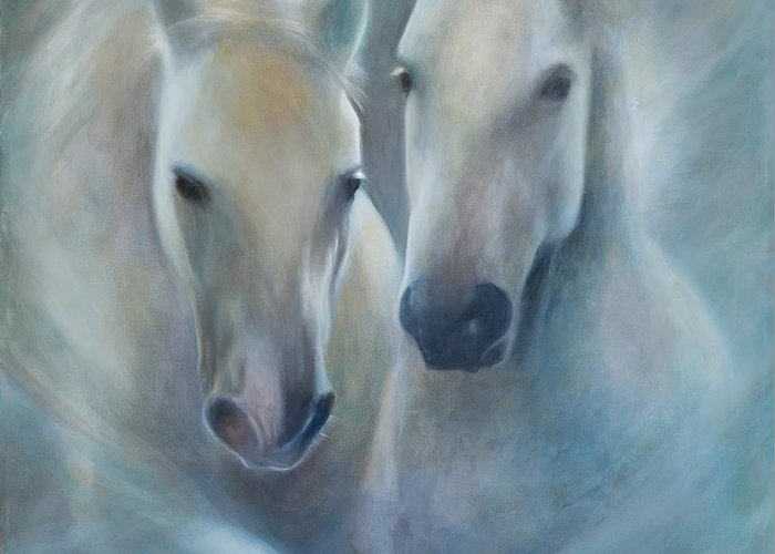 Horse Greeting Card featuring the painting Lipizzaner Spirit by Elizabeth Silk