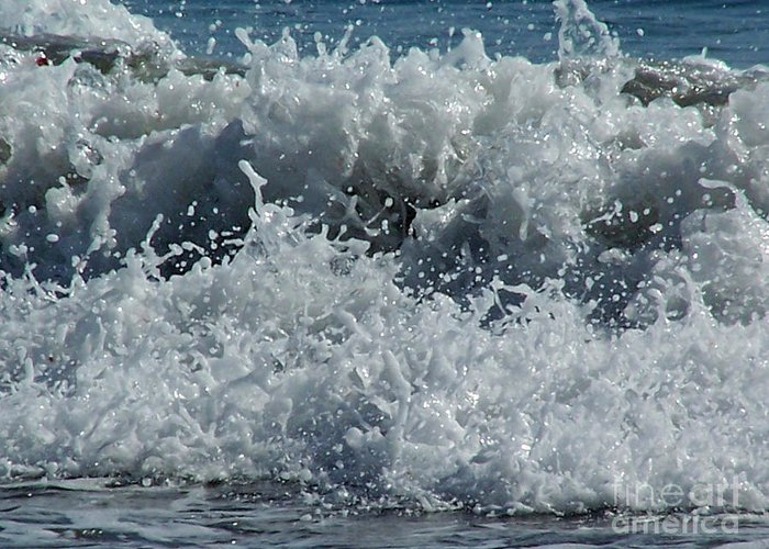 Ocean Greeting Card featuring the photograph Liquid Fingerprints by Brian Commerford