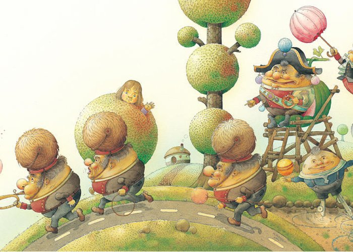 Green Lanscape King Greeting Card featuring the painting Lisas Journey05 by Kestutis Kasparavicius