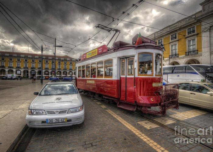 Yhun Suarez Greeting Card featuring the photograph Lisbon Tram by Yhun Suarez