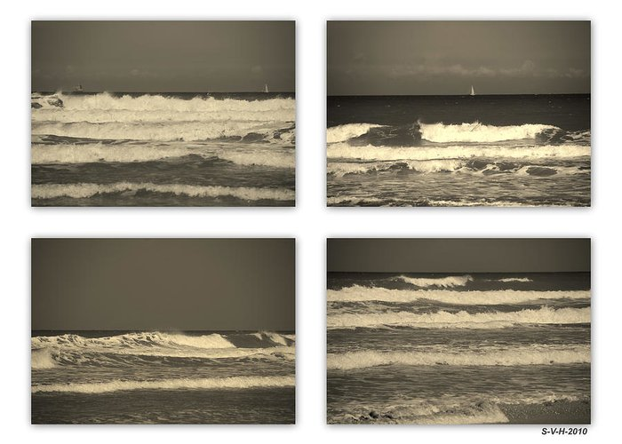 Waves Greeting Card featuring the photograph Listen To The Song Of The Ocean by Susanne Van Hulst