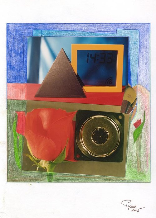Love Greeting Card featuring the mixed media Listen To The Voice Of Love by Michael Puya